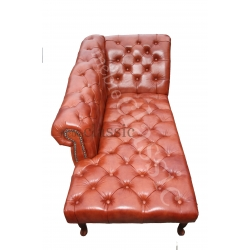 Chesterfield Seul chaise longue 100% natural leather
